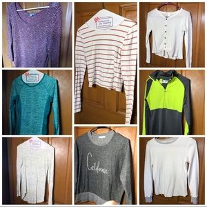 A bundle of nice  blouses, long sleeve and more